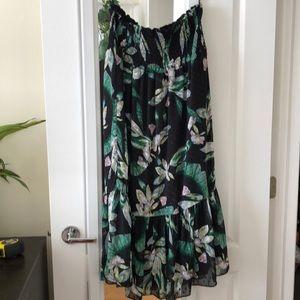 Tropical maxi skirt / strapless dress